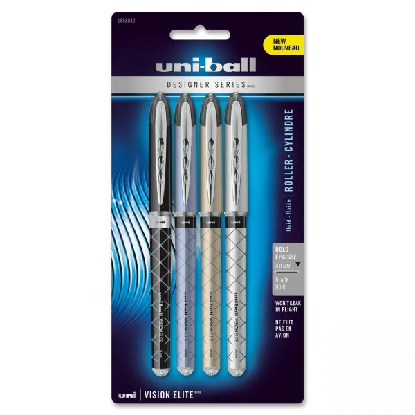Uni-Ball Vision Elite Designer Series Rollerball Pens