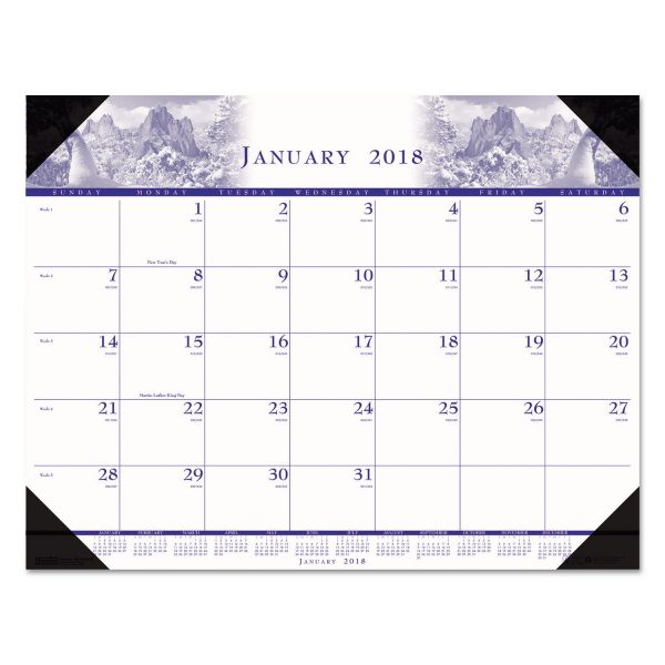 House of Doolittle One-Color Photo Monthly Desk Pad Calendar