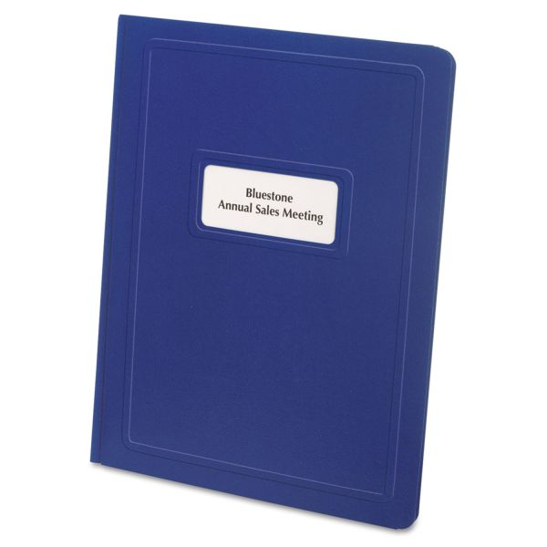 Oxford Report Cover, Title Window, 3 Fasteners, Letter, Royal Blue, 25/Box