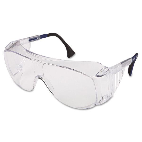 Honeywell Uvex Ultraspec 2001 OTG Safety Eyewear, Clear/Black Frame, Clear Lens