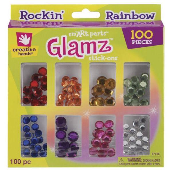 Glamz Stick-On Rhinestones 100/Pkg