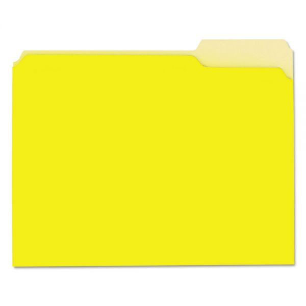 Universal Recycled Yellow Colored File Folders