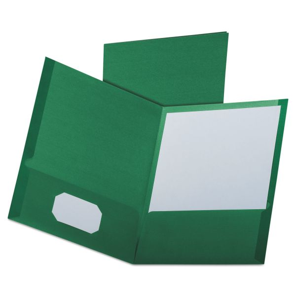 Oxford Dark Green Two Pocket Folders