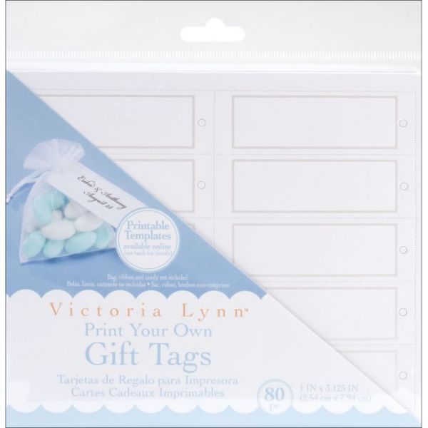 "Print Your Own Gift Tags 1""X3.125"" 80/Pkg"