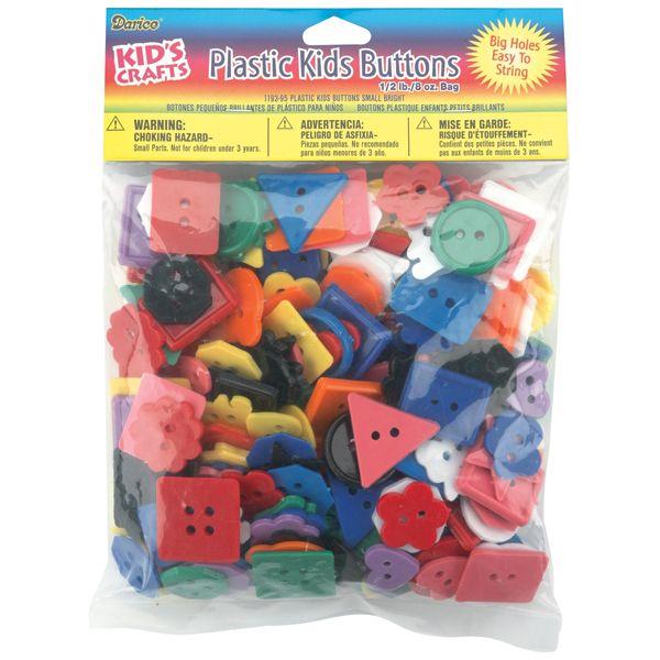 Plastic Kids Buttons .5lb