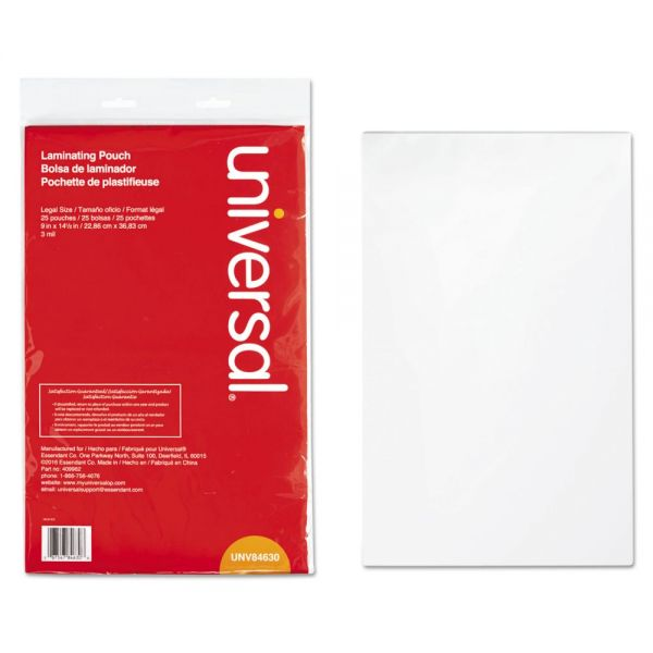 Universal Legal Size Laminating Pouches
