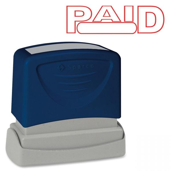Sparco PAID Red Title Stamp