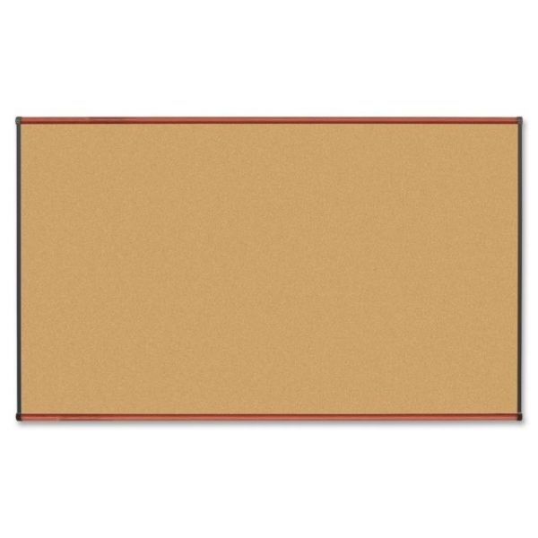 Lorell Cherry Finish Natural Cork Bulletin Board