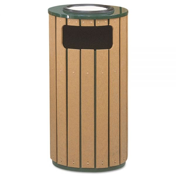 Rubbermaid Regent 12 Gallon Trash Can With Ashtray Top