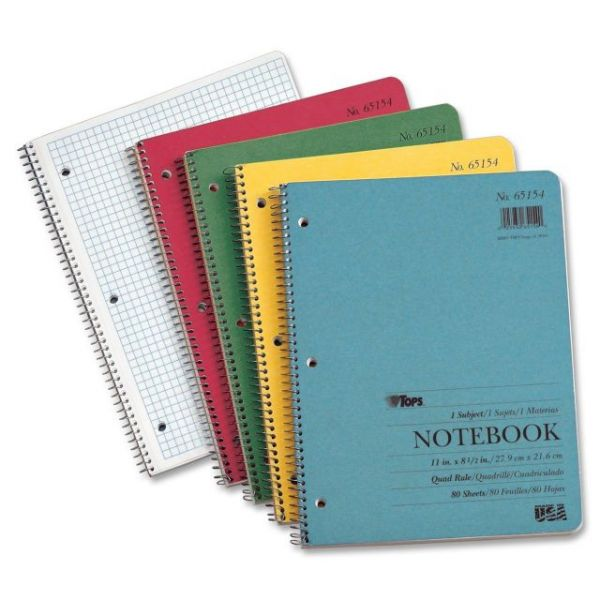 TOPS Quadrille Ruled Notebook