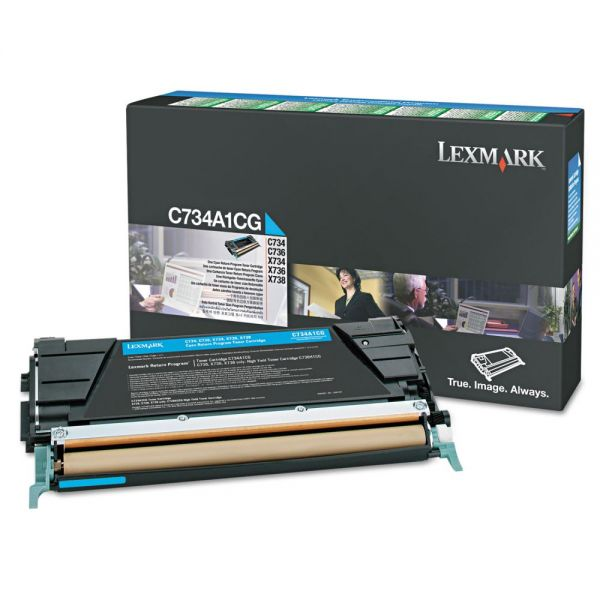 Lexmark X746A1CG Cyan Return Program Toner Cartridge