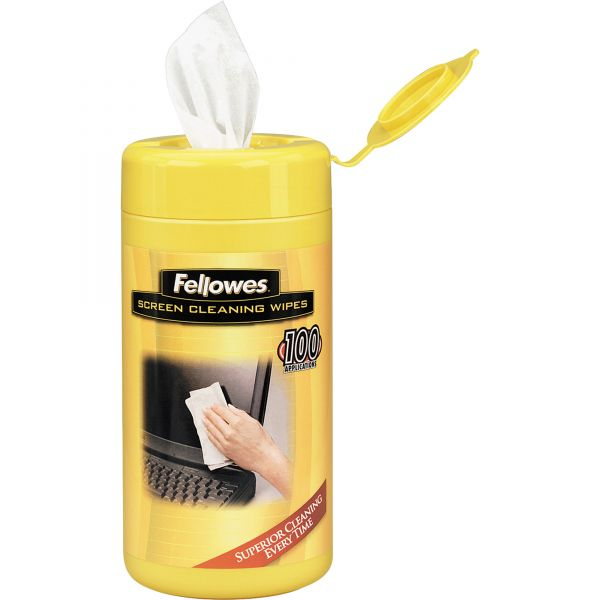 Fellowes Screen Cleaning Wipes - 100ct