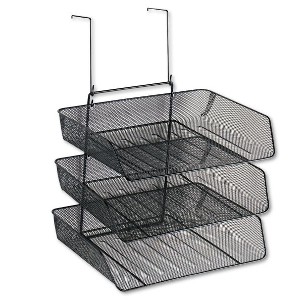 Fellowes Mesh Partition Additions Triple Tray