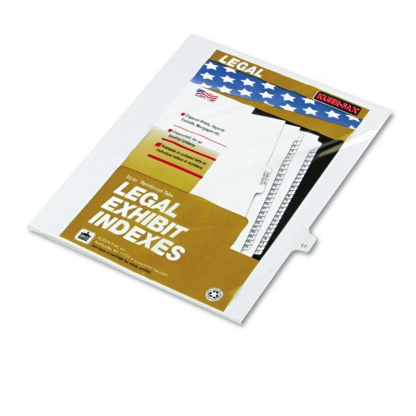 Kleer-Fax Legal Index Dividers