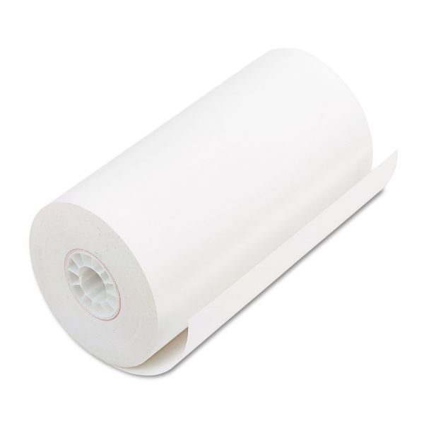 "PM Company Single Ply Thermal Cash Register/POS Rolls, 4 9/32"" x 115 ft., White, 25/CT"