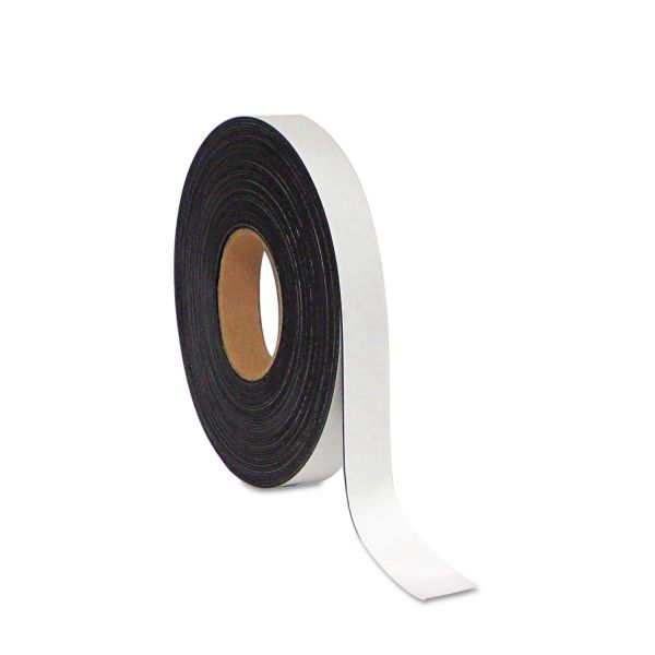 "MasterVision Dry Erase Magnetic Tape Roll, White, 1"" x 50 Ft."