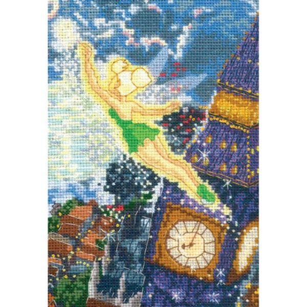 MCG Textiles Disney Dreams Collection By Thomas Kinkade Tinker Bell Cross Stitch Kit