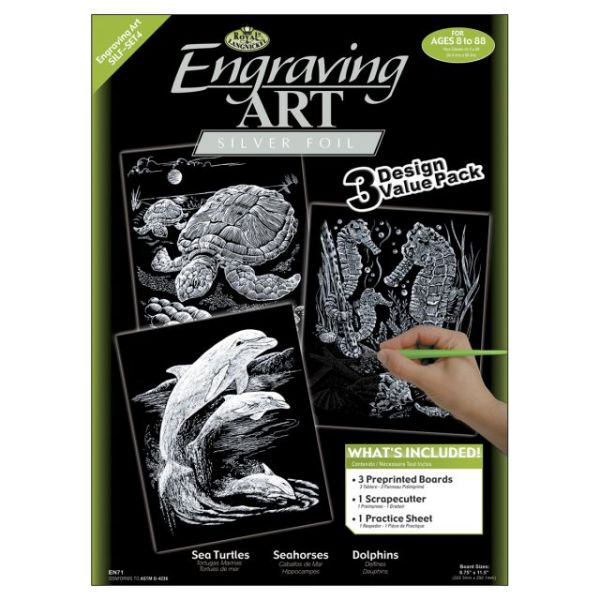 "Foil Engraving Art Kit Value Pack 8.75""X11.5"""