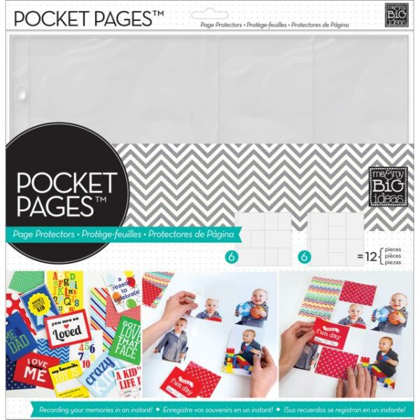 "Me & My Big Ideas Pocket Pages Protectors 12""X12"" 12/Pkg"
