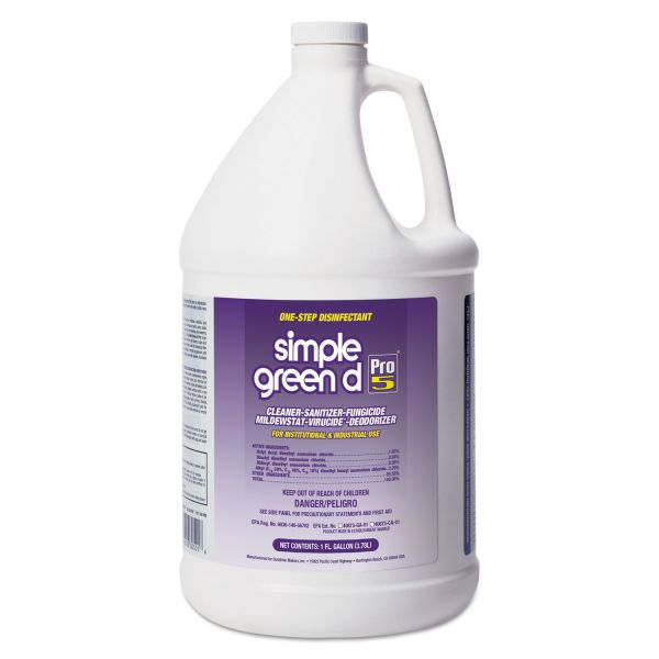 Simple Green d Pro 5 Disinfectant, 1 gal Bottle