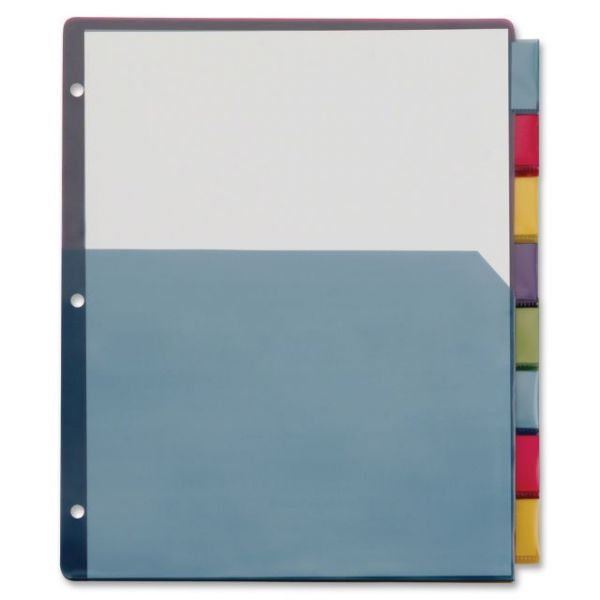 TOPS Extra-Tough Poly Index Dividers with Pockets