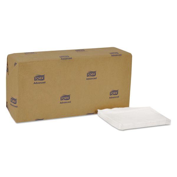 Tork Advanced Soft Masterfold Dispenser Napkins, 1-Ply,12x17,Bag-Pack, White, 6000/Ct