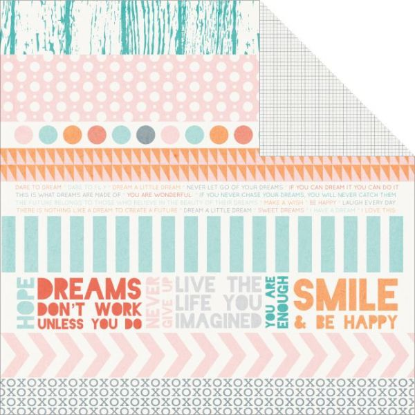 "Dream Big Double-Sided Cardstock 12""X12"""
