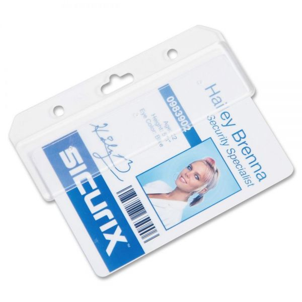 SICURIX Plastic Half Badge Holders