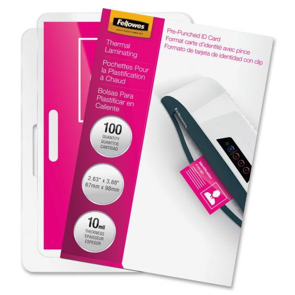Fellowes ID Badge Laminating Pouches