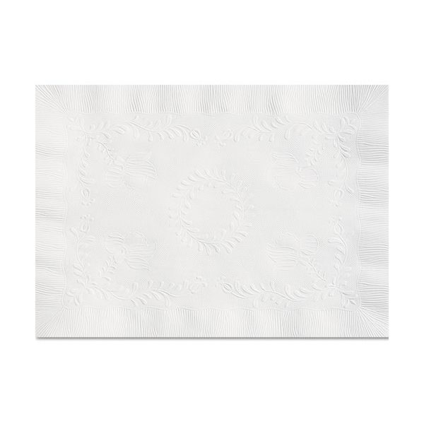 Hoffmaster Anniversary Embossed Scalloped Edge Tray Mat