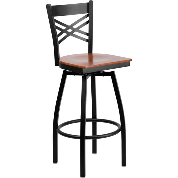 Flash Furniture HERCULES Series ''X'' Back Swivel Barstool