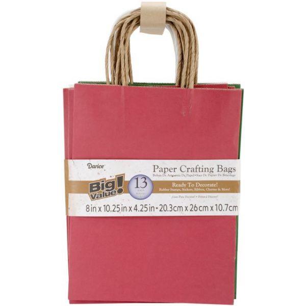 "Paper Bags 4.25""X8""X10.25"" 13/Pkg"