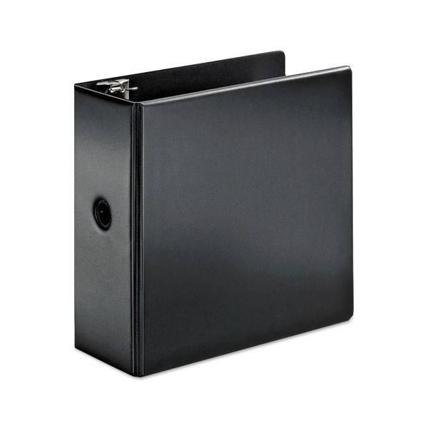 "Cardinal SuperStrength Locking 3-Ring Binder, 5"" Capacity, Slant-D Ring, Black"