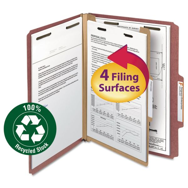 Smead Recycled Pressboard Classification File Folders