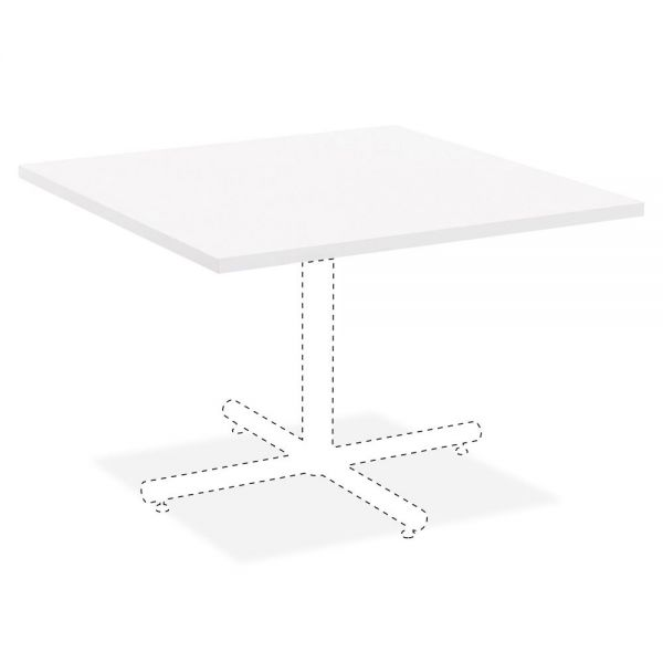 Lorell Hospitality White Laminate Square Tabletop