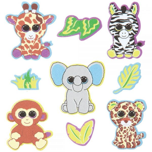 Beanie Boo Foam Sticker 4/Pkg
