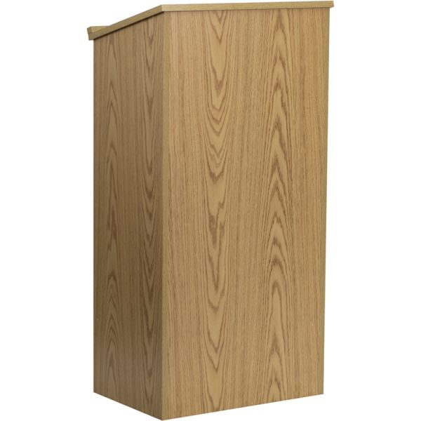 Flash Furniture Oak Stand-Up Lectern