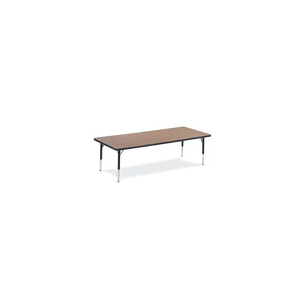 Primary Collection Height Adjustable Rectangular Activity Table with Red Banding