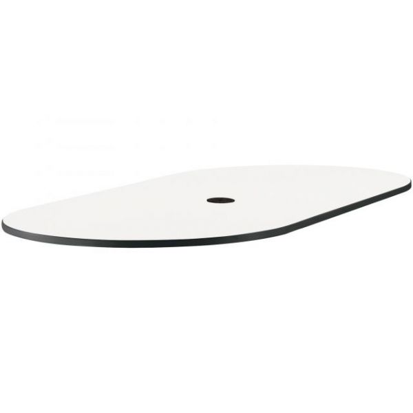 Safco Designer White Cha-Cha Table Oval Tabletop