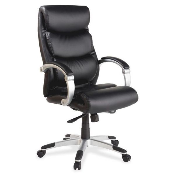 Lorell Executive Bonded Leather High-Back Office Chair