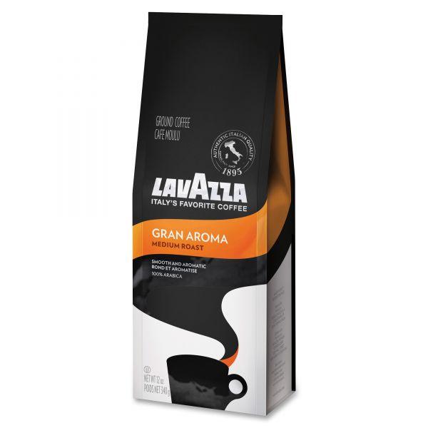 Lavazza Gran Aroma Ground Coffee, Medium Roast, 12 oz Bag