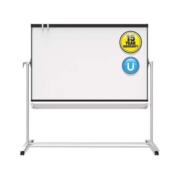 Quartet Prestige 2 Mobile Presentation Easel,  6 ft x 4 ft, Silver/Graphite