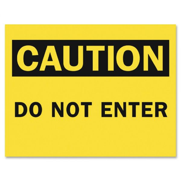Tarifold Safety Sign Inserts-Caution Do Not Enter