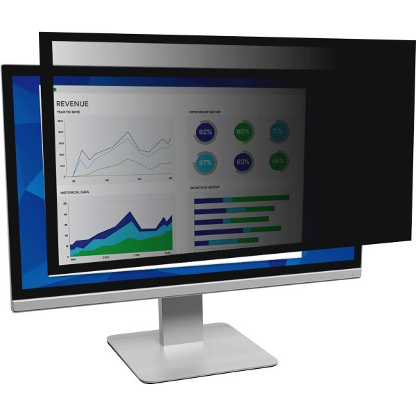 "3M Framed Desktop Monitor Privacy Filter for 23.6"" to 24"" Widescreen LCD, 16:10"