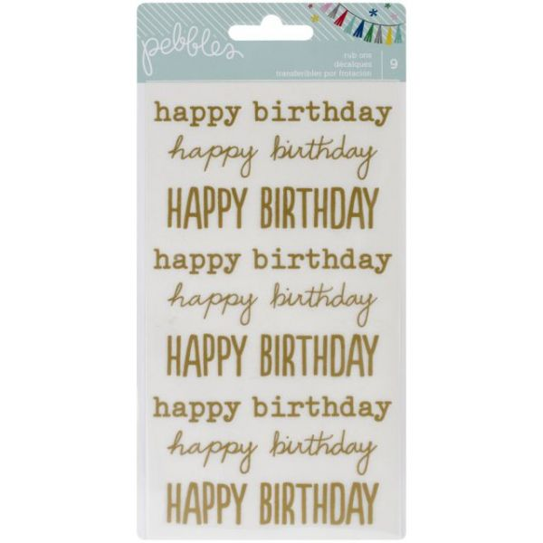 "Birthday Wishes Rub-Ons 8""X4.25"""