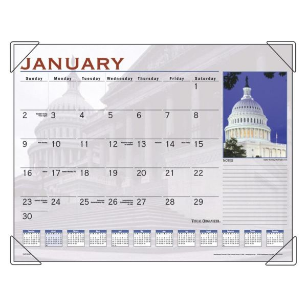 AT-A-GLANCE Horses Recycled Monthly Desk Pad Calendar