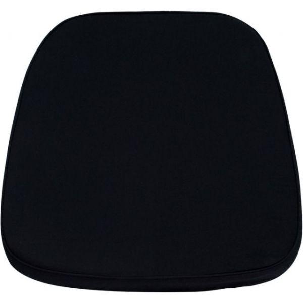 Flash Furniture Soft Black Fabric Chiavari Chair Cushion