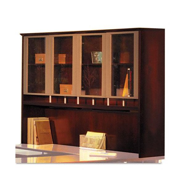 Tiffany Industries Napoli Veneer Hutch with Glass Doors, 63w x 15d x 50-1/2h, Cherry