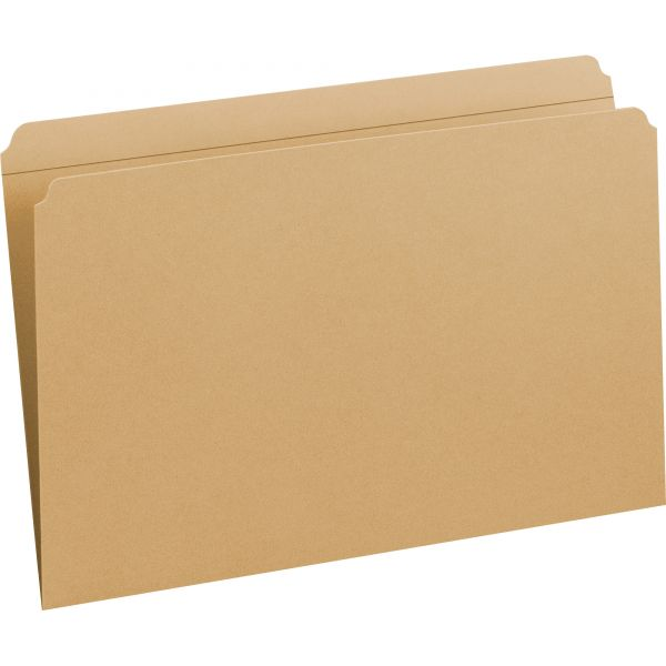 Smead 15710 Kraft Colored File Folders with Reinforced Tabs