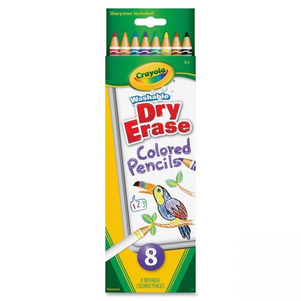 Crayola Dry Erase Washable Colored Pencil Set